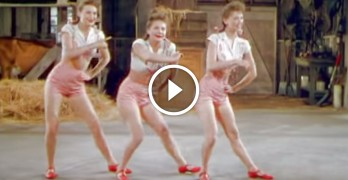 These sisters look like ordinary 1940's dancers, but keep your eye on their legs. WOW!